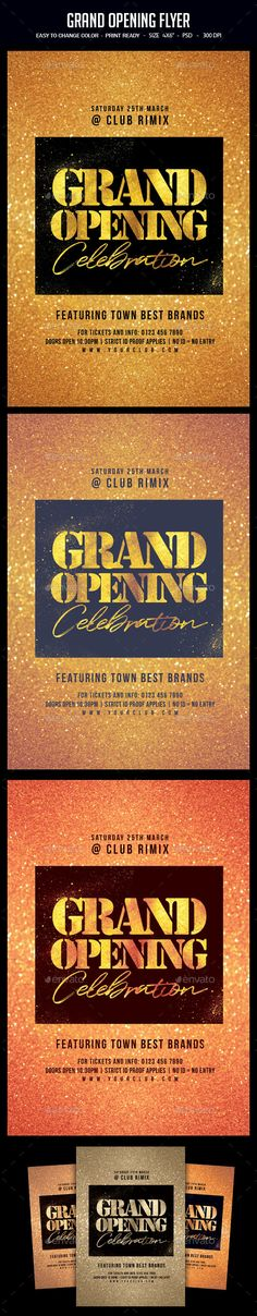 Candy Shop Grand Opening Announcement Flyers  Grand Opening