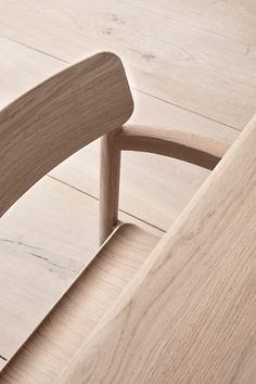 With its upright stance and solid wood frame, the Post Chair embodies the principles of simplicity that drive designer Cecilie Manz. Joinery, Floor Chair, Solid Wood, Pure Products, The Originals, Montana, Crisp, Modern, Minimal