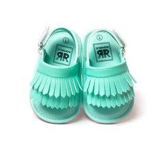 Boks Bayi panas Bayi perempuan Sepatu Rumbai Kulit Lembut Bawah Anti-slip Sepatu Musim Panas S01