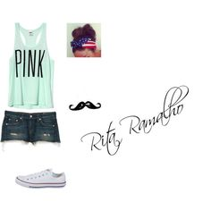 Pink Blue by ritinha-ramalho on Polyvore featuring Victoria's Secret, rag & bone/JEAN and Converse