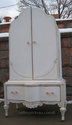 OMG Shabby Vintage French White Chic Clothing Armoire by picks4u, $1425.00