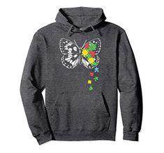 Vizor Autism Flag Off Shoulder Sweatshirt Autism Awareness USA Flag Sweater
