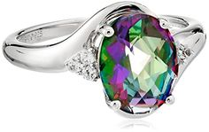 Sterling Silver Mystic Fire Green Topaz and Created White Sapphire Oval Ring, Size 7 Amazon Collection http://www.amazon.com/dp/B00RT42BR0/ref=cm_sw_r_pi_dp_luWNwb0EGNVQM