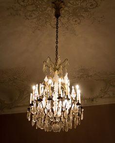 Crystal Chandelier Home Decor, Paris Fine Art Photograph, Paris Decor, Dreamy Chandelier