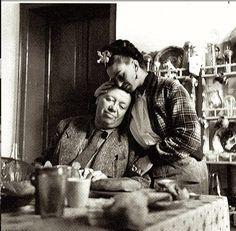 Frida Kahlo with Diego Rivera