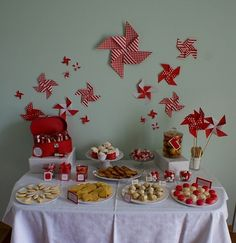 Origami Windmills Candy Station Decoration