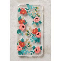 Rifle Paper Co. Gardenbloom iPhone 6 & 6 Plus Case ($36) ❤ liked on Polyvore featuring accessories, tech accessories and red motif