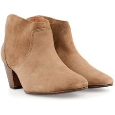 H BY HUDSON Mirar shoes ($220) ❤ liked on Polyvore featuring shoes, boots, ankle booties, heels, beige, bootie boots, ankle boots, beige ankle boots, heeled bootie and mid-heel boots