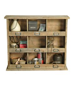 Uhhh. This is really good for the shed: Chedworth Wall Unit