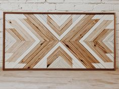 Natural and White — Aleksandra Zee - - Wood is redwood. Pieces are unique and handmade, wood grain and white tones will vary piece to piece. Domestic shipping only. The lead time for these pieces are is weeks. Wooden Wall Art, Diy Wall Art, Wood Wall Nursery, Rustic Wall Art, Wood Wall Decor, Herringbone Headboard, Chevron Headboard, Diy Rustic Headboard, Headboard Ideas