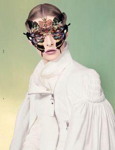 Elza Luijendijk Wears Butterfly Beauty for Ben Toms Dazed & Confused Shoot