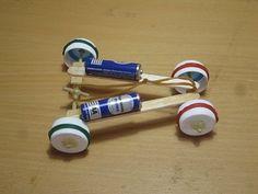 Cara Membuat Mobil Mainan Tenaga Karet Dari Stik Eskrim #kellyjack21