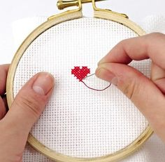 How to: cross stitch / relearning the rules. Even when you know what you're doing, it never hurts to have an available lesson in basics