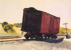 """Freight Car at Truro"", 1931, Edward Hopper."