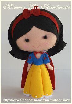 Snow White PDF ||| doll, plush, felt, fabric, Disney, princess, and the Seven Dwarfs