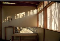 The beautiful patterns of light and shade filter through the paper windows, created by the bamboo screen built behind the tea-house.  on Thanks for visiting us here at The Australian Owner-Builder Network!  http://theownerbuildernetwork.com.au/quiet-spaces/the-teahouse/#sg4
