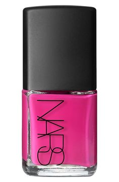 Love how glossy this hot pink Nars polish is!