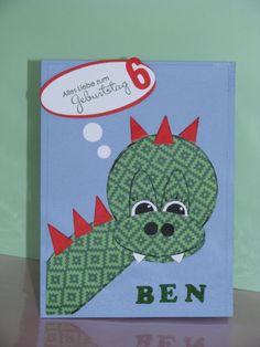 Geburtstagskarte für einen Jungen, Punch art