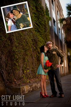 Engagement photos inspired by the movie Wizard of Oz.--- love the idea of a movie inspired engagement shoot!