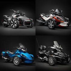 Introducing the all new 2015 lineup - the Spyder F3, Can-Am Spyder RT-S, RS-S and ST-S. #RideASpyder Discover their key features: http://bit.ly/CanAmBRP