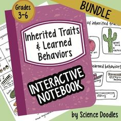 This bundle is also sold in the LIFE SCIENCE SET of 7 bundles found here at 20% off!This whole unit BUNDLE is a great way to introduce inherited traits and learned behaviors.