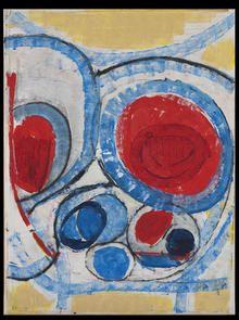 Gustav Bolin - Cercles rouges #gallery #art #abstraction #paris #pfgarcier