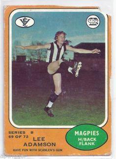 1973 B Scanlens. Football Cards, Baseball Cards, Collingwood Football Club, Australian Football, St Kilda, Nostalgia, Have Fun, Sports, Books