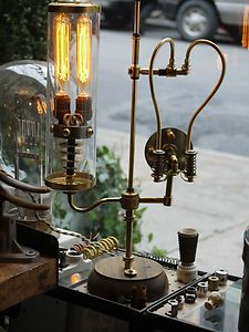 Vintage Industrial Desk Lamp Machine Age Task Light Steampunk #Steampunk #DIY #pipes #pipe