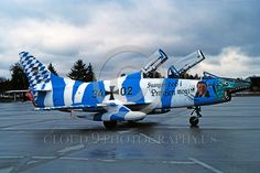 High resolution Cold War era Fiat G.91 fighter-attack jet aircraft rare colorful paint scheme military airplane pictures for sale