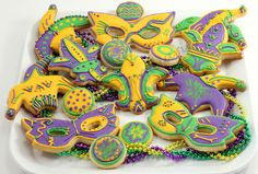 Mardi Gras cookie platter