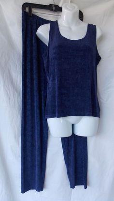 Chico's 2 Set Tank Pants Cami Private Edition Purple Travel Women's  #Chicos #Cardigan