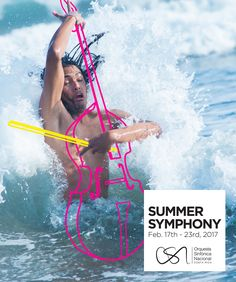 repurposing photos never meant for this purpose: Orquesta Sinfónica Nacional: Summer Symphony - Violoncello Clever Advertising, Advertising Campaign, Advertising Design, Poster Design, Ad Design, Design Lab, Design Concepts, Sketch Design, Ad Of The World