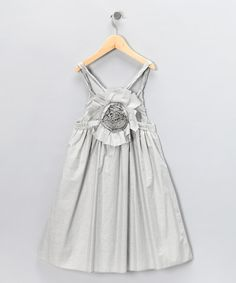 Take a look at this Dove Gray Flower Dress - Toddler & Girls by All Navy on #zulily today!