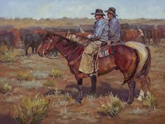 Cowboy Consult by Shawn Cameron Oil ~ 12 x 16