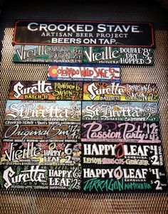 crooked stave Artisan Beer, Double S, Menu Boards, Tap Room, White Letters, Brewery, Bar, Craft, Season 2