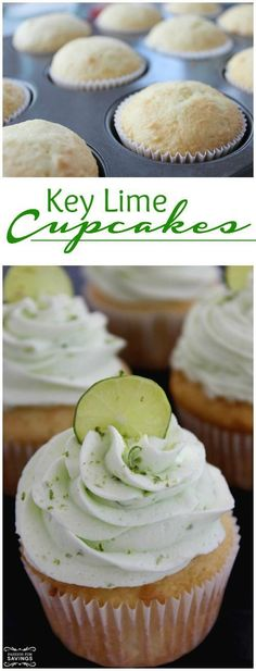 Easy Key Lime Cupcakes Recipe! Try this easy dessert recipe for birthday parties and summer cookouts or pool parties!