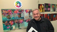 """BobBlast 120 """"Painting Abstract Florals Using Four Colors."""""""