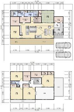 理想の間取り Floor Plants, Conceptual Design, House Layouts, My House, House Plans, Interior Decorating, Home And Garden, House Design, Flooring