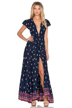 Need this and flight to Sedona!! Tularosa Sid Wrap Dress in Navy