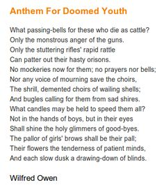 20 Best Wilfred Owen Images Wilfred Owen Poems Poetry