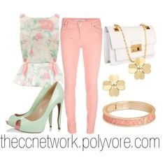 Girly Pastel Outfit by theccnetwork on Polyvore