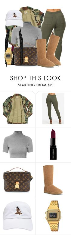 """""""You make me feel like I'm worth about a million dollars 💕"""" by tyrionnak ❤ liked on Polyvore featuring Carhartt, Glamorous, Smashbox, Louis Vuitton, UGG Australia and Casio"""