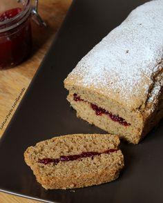 Plumcake #glutenfree con grano saraceno e marmellata di mirtilli rossi freschi di bosco.