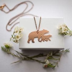 """48 Likes, 1 Comments - Smithstine Copper (@smithstinecopper) on Instagram: """"Mama and baby Ursa Major and Ursa Minor bear necklace. I had a lot of fun designing this pair a few…"""""""
