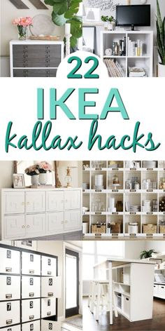 Wow these Kallax Ikea furniture hacks are AMAZING! Check out the ikea furniture . - Wow these Kallax Ikea furniture hacks are AMAZING! Check out the ikea furniture makeover before and - Ikea Office Storage, Ikea Craft Storage, Ikea Hack Storage, Ikea Bedroom Storage, Storage Ideas, Ikea Furniture Makeover, Ikea Furniture Hacks, Space Saving Furniture, Ikea Hacks
