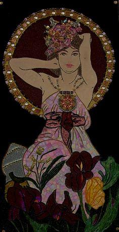 Mosaïque IRIS 120x60 Marie-Laure BOURBON Mosaïque