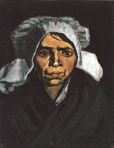 Head of a Peasant Woman with White Cap 1884 Vincent van Gogh