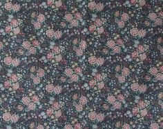 Floral Cotton Fabric Ozark Calico by by CraftSuppliesDesk on Etsy