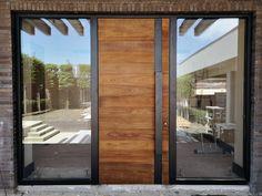 Contemporary Front Doors, Modern Front Door, House Front Door, House Doors, House Entrance, Entrance Doors, Door Design Interior, Main Door Design, Front Door Design