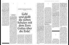 Lesbares, aufgeräumtes Design. Das Neue Testament als Magazin / Einheitsübersetzung / Bibel / Design / bible